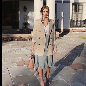 9a1100980d77 Zara Jackets & Coats - NWT Zara Double Breasted Sand Linen Blazer/Dress